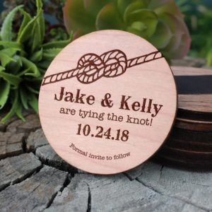 Wood Save The Date Magnet | Jake Kelly
