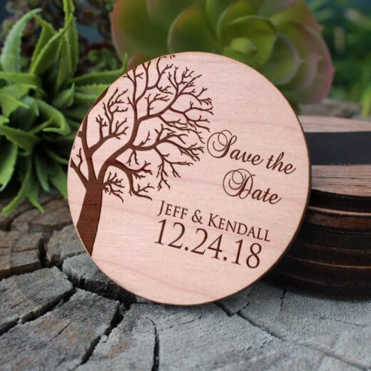 Wood Save The Date Magnet | Jeff Kendall
