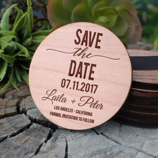 Wood Save The Date Magnet | Laila Peter