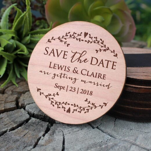 Wood Save The Date Magnet | Lewis Claire