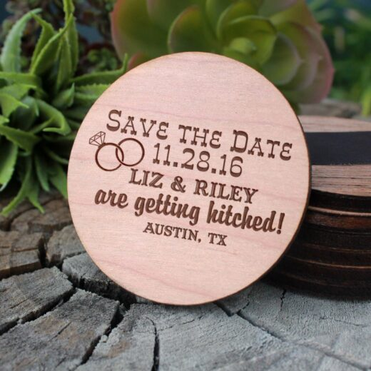 Wood Save The Date Magnet | Liz Riley