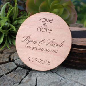 Wood Save The Date Magnet | Ryan Nicole