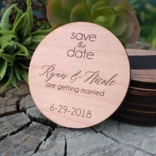 Wood Save The Date Magnet | Ryan Nicole
