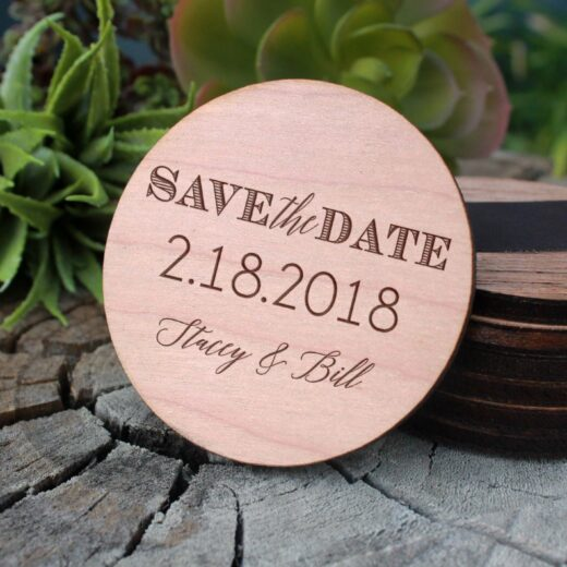 Wood Save The Date Magnet | Stacey Bill
