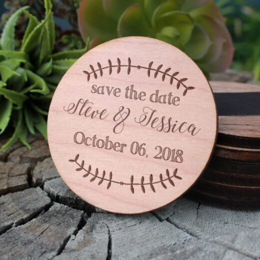 Wood Save The Date Magnet   Steve Jessica