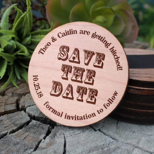 Wood Save The Date Magnet | The Caitlin