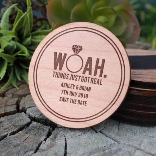Wood Save The Date Magnet | Woah