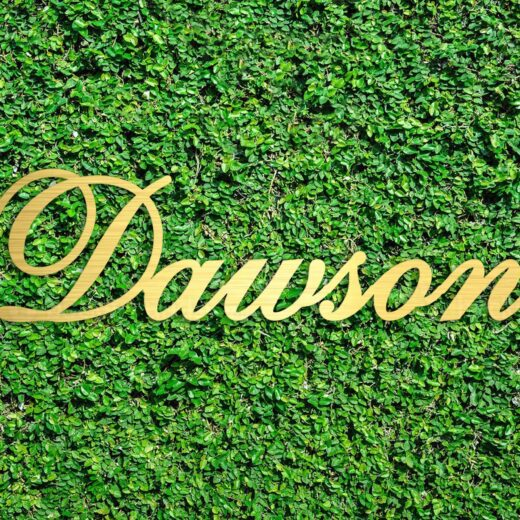 Wood Hedge Wall Sign | Dawson