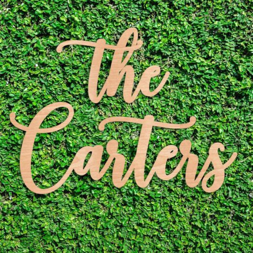 Wood Hedge Wall Sign | Carters