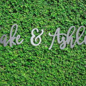 Wood Hedge Wall Sign | Jake & Ashley