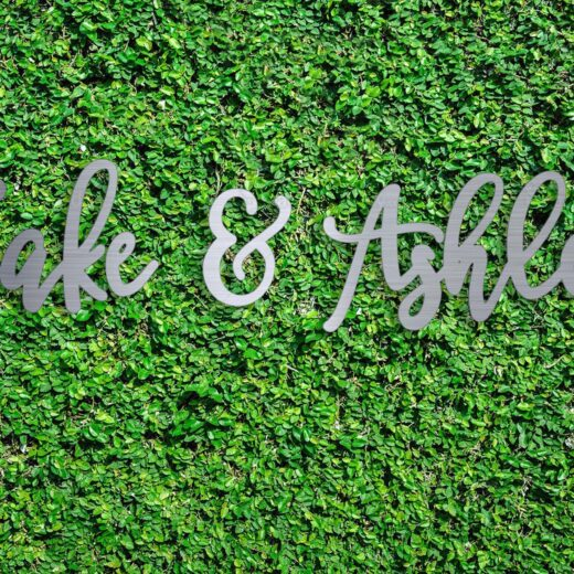 Wood Hedge Wall Sign | Jake & Ashley
