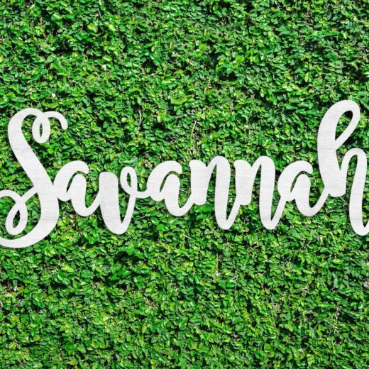 Wood Hedge Wall Sign | Savannah