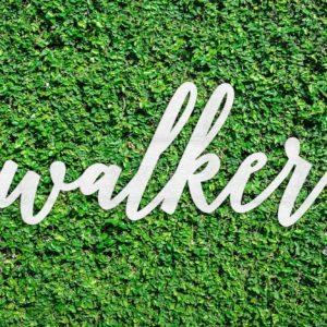 Wood Hedge Wall Sign | Walker