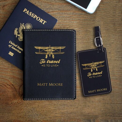Leather Passport & Luggage Tag Set | Matt Moore