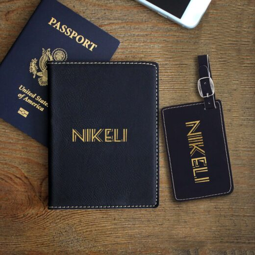 Leather Passport & Luggage Tag Set | Nikeli