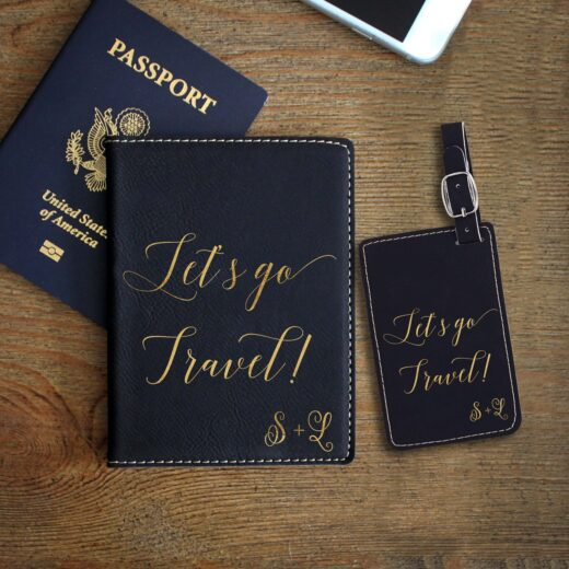 Leather Passport & Luggage Tag Set | Travel