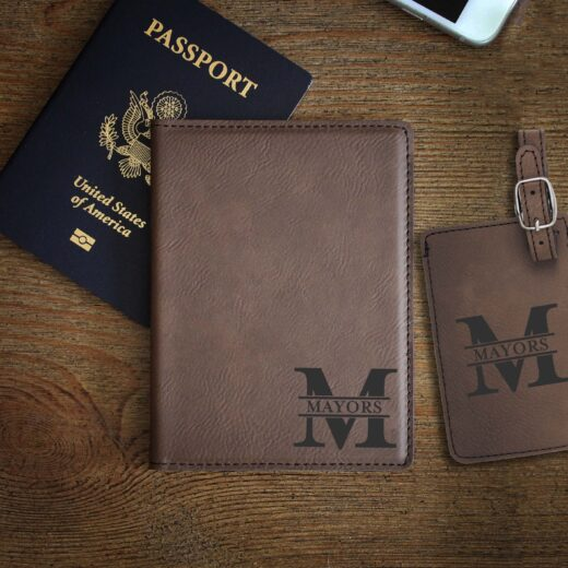 Leather Passport & Luggage Tag Set | Mayors