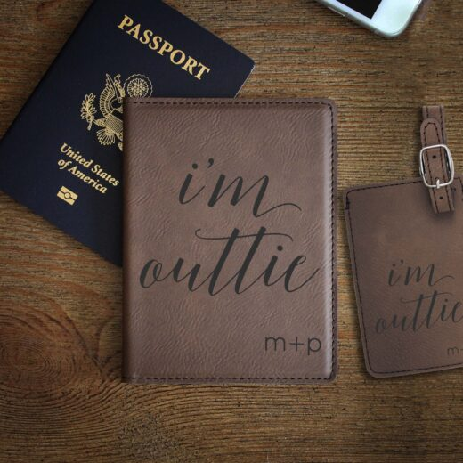 Leather Passport & Luggage Tag Set | Outtie