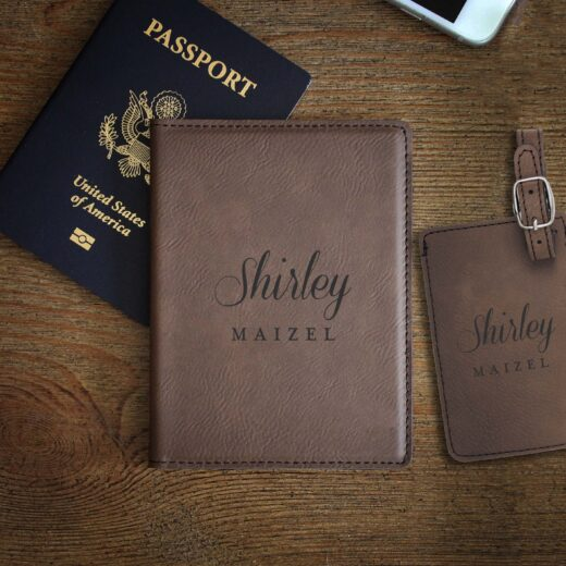 Leather Passport & Luggage Tag Set | Shirley