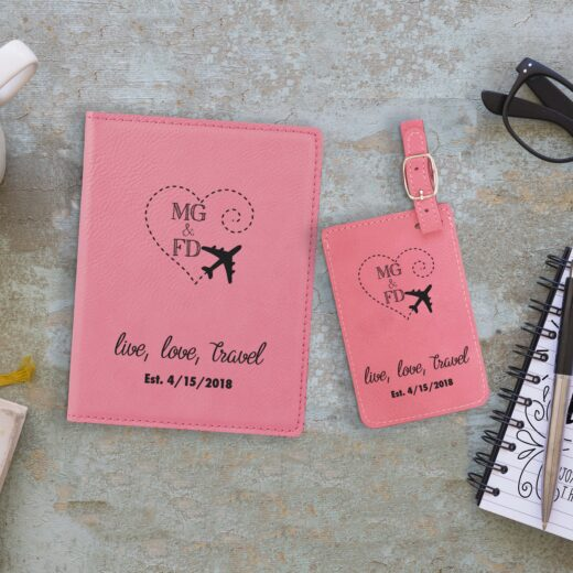 Leather Passport & Luggage Tag Set | MGFD