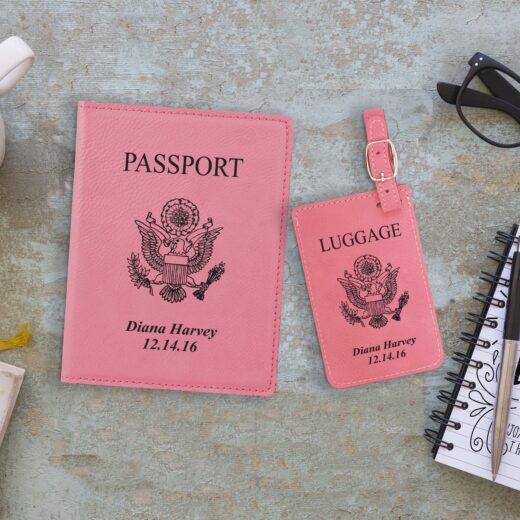 Leather Passport & Luggage Tag Set | Seal