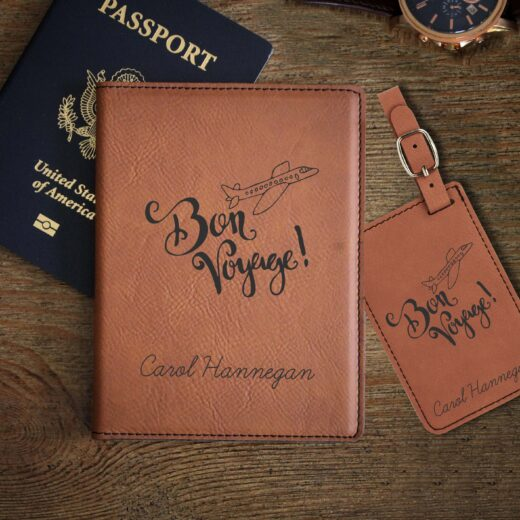 Leather Passport & Luggage Tag Set | Hannegan
