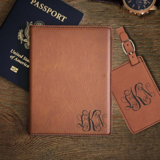 Leather Passport & Luggage Tag Set | LKN