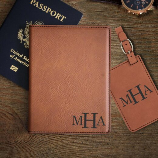 Leather Passport & Luggage Tag Set | MHA
