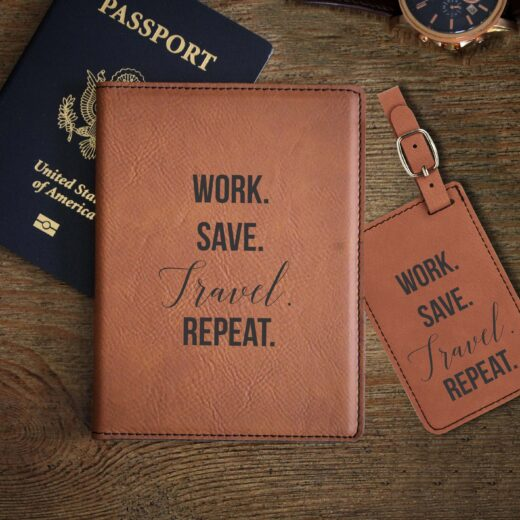 Leather Passport & Luggage Tag Set | Repeat