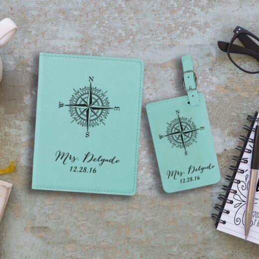 Leather Passport & Luggage Tag Set | Delgado