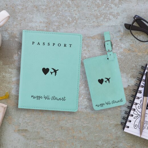 Leather Passport & Luggage Tag Set | Maggie Hill