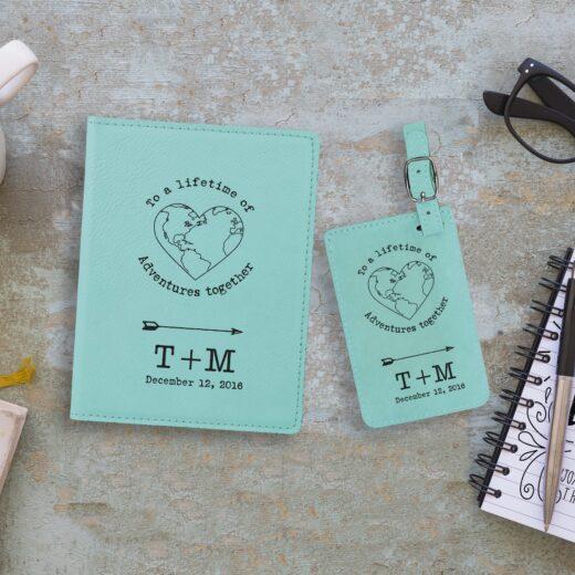 Leather Passport & Luggage Tag Set | TM