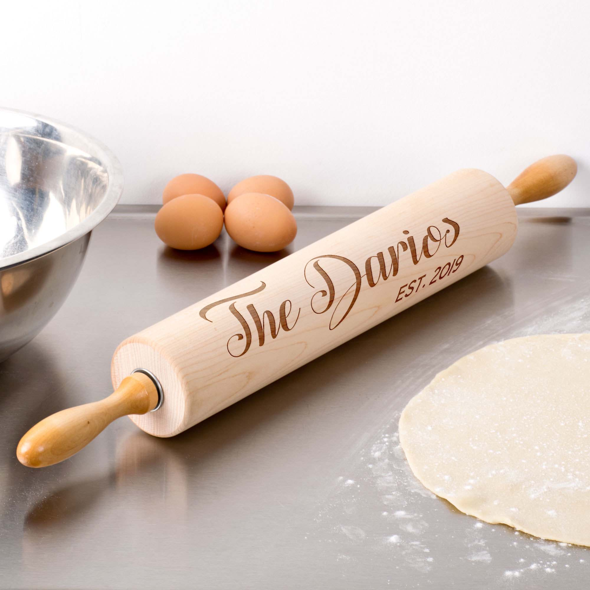 Personalized Wood Rolling Pin | Darios