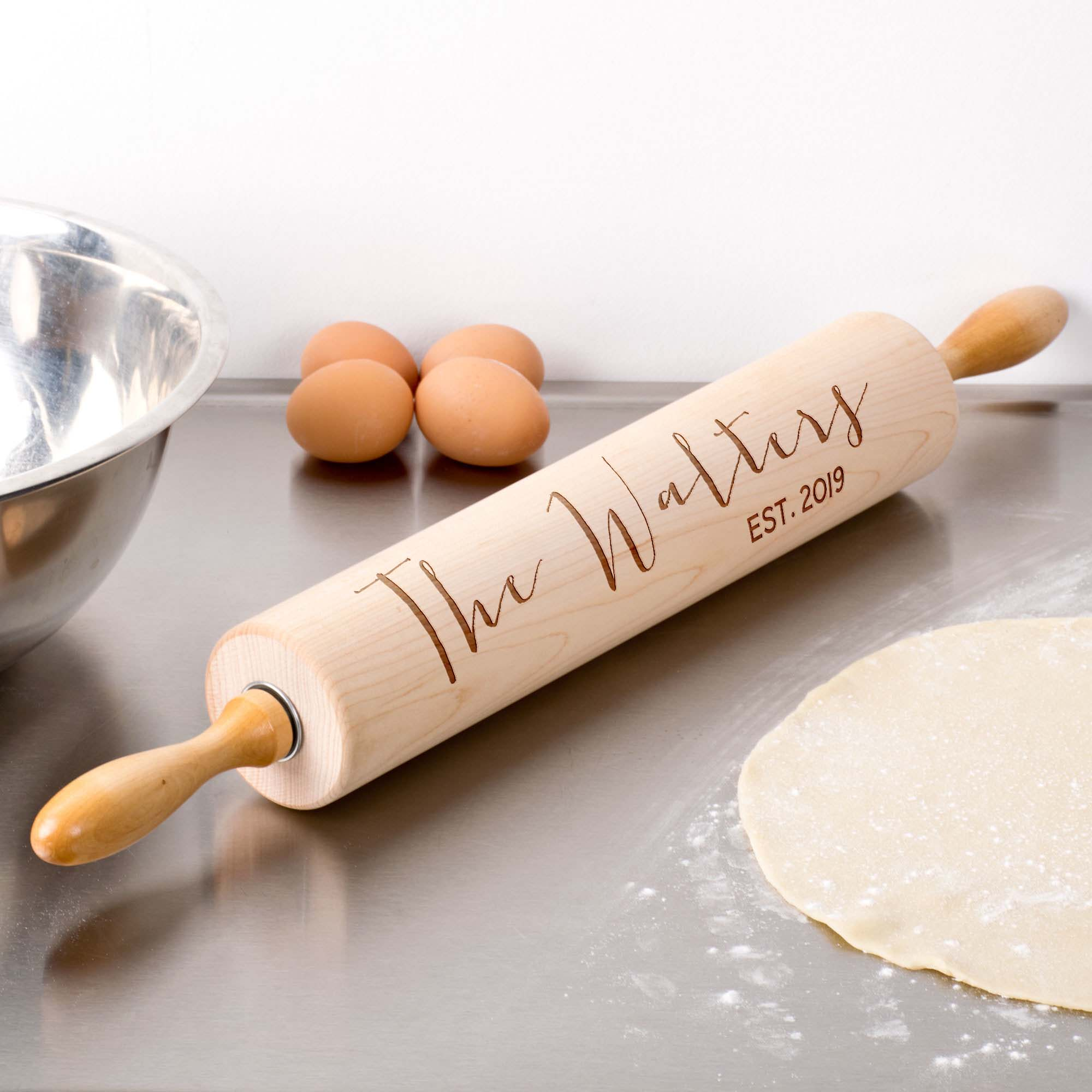 Personalized Wood Rolling Pin   Walters