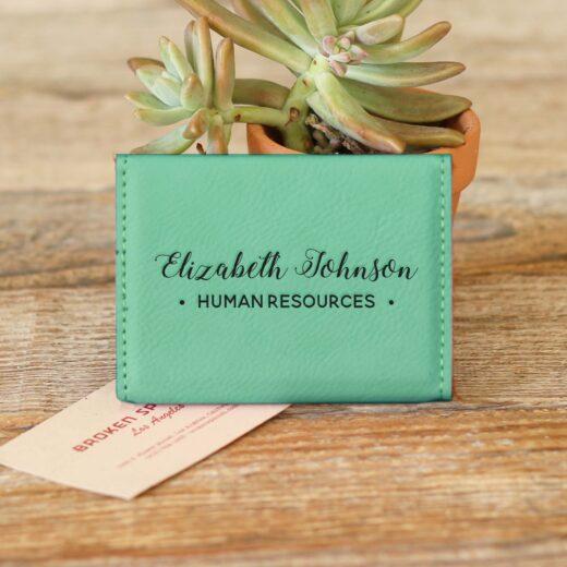 Engraved Business Card Holder Business Card Holder Personalized Business Card Holder Leather Business Card Holder --BCH-LLB-HANNAHRAE