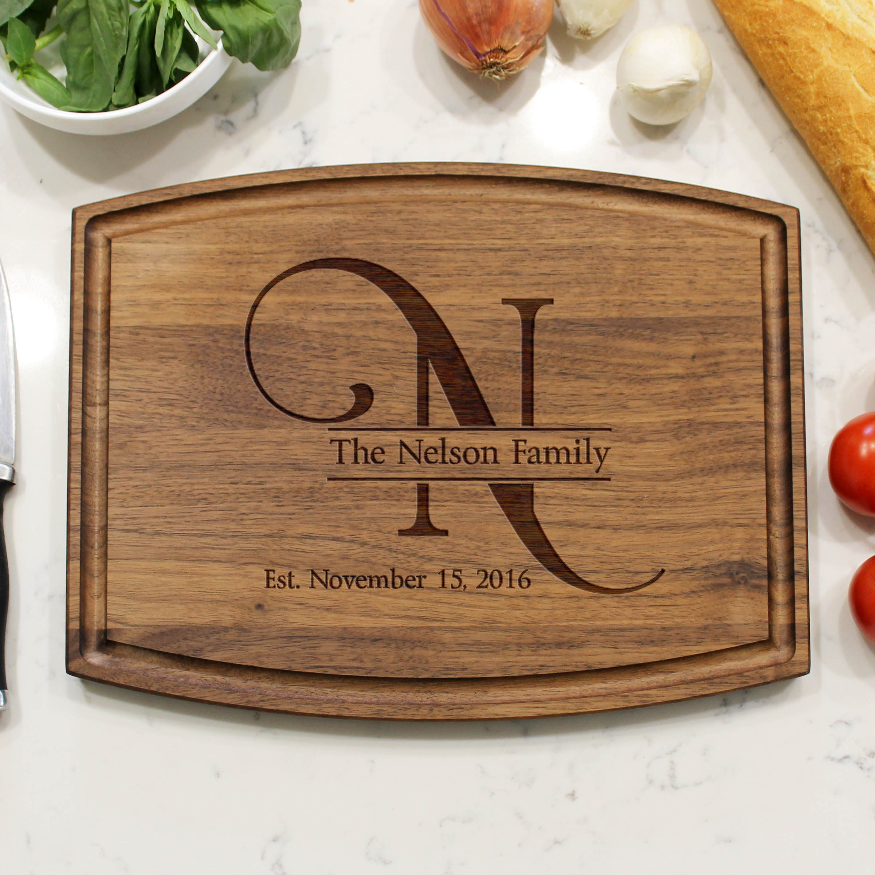 Nelson Personalized Cutting Boards Etchey