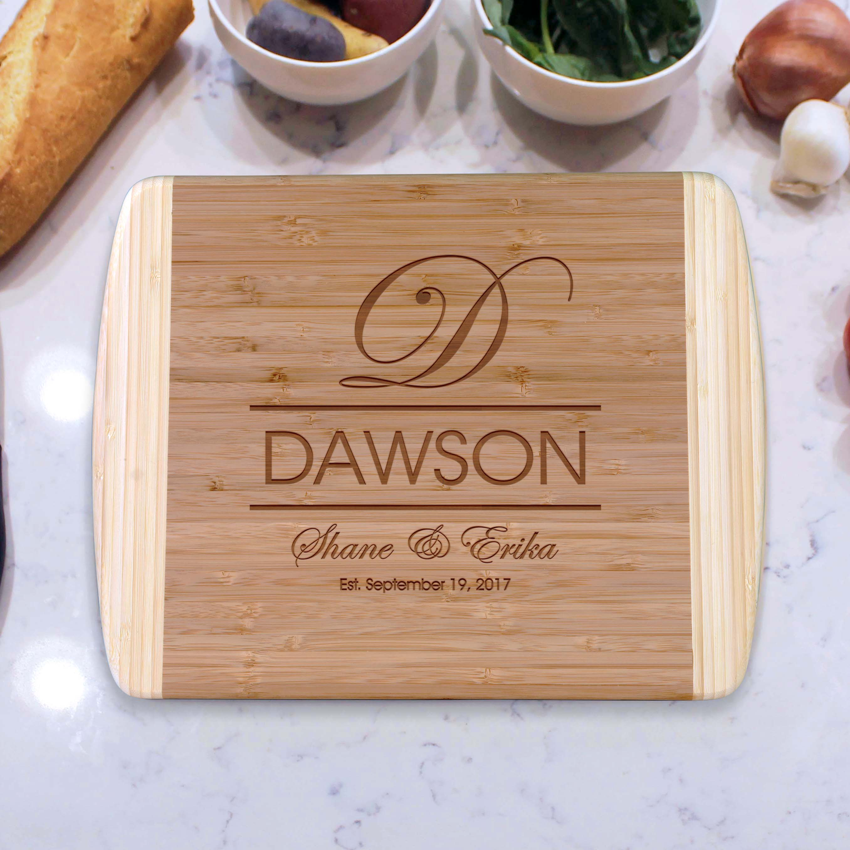 Dawson Personalized Cutting Boards Etchey