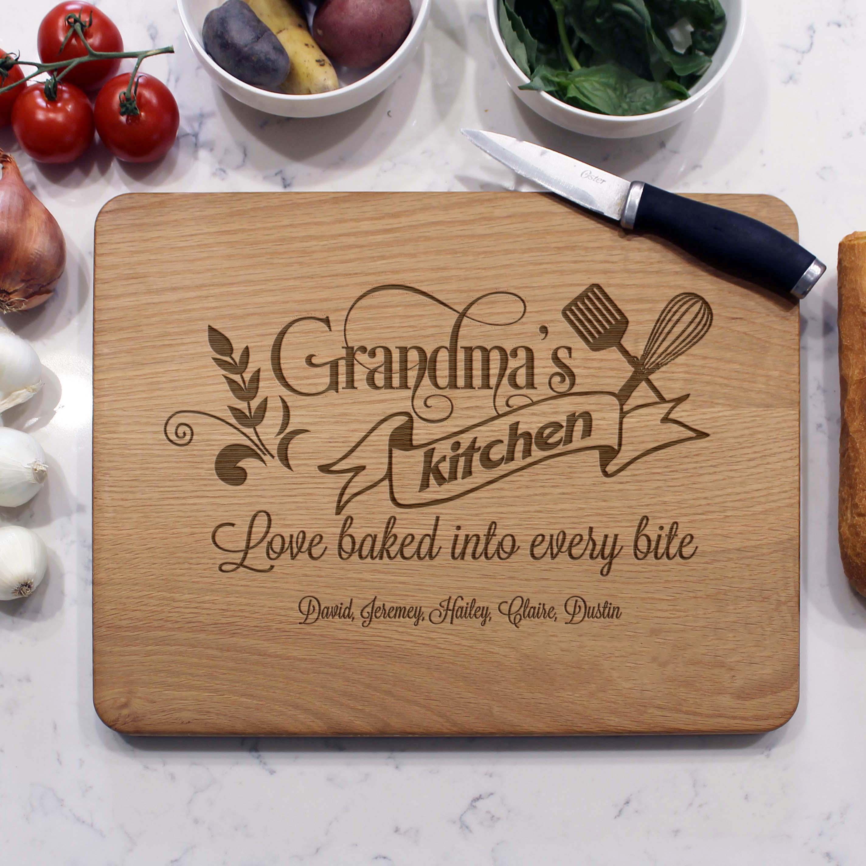 Grandma S Kitchen Personalized Cutting Boards Etchey