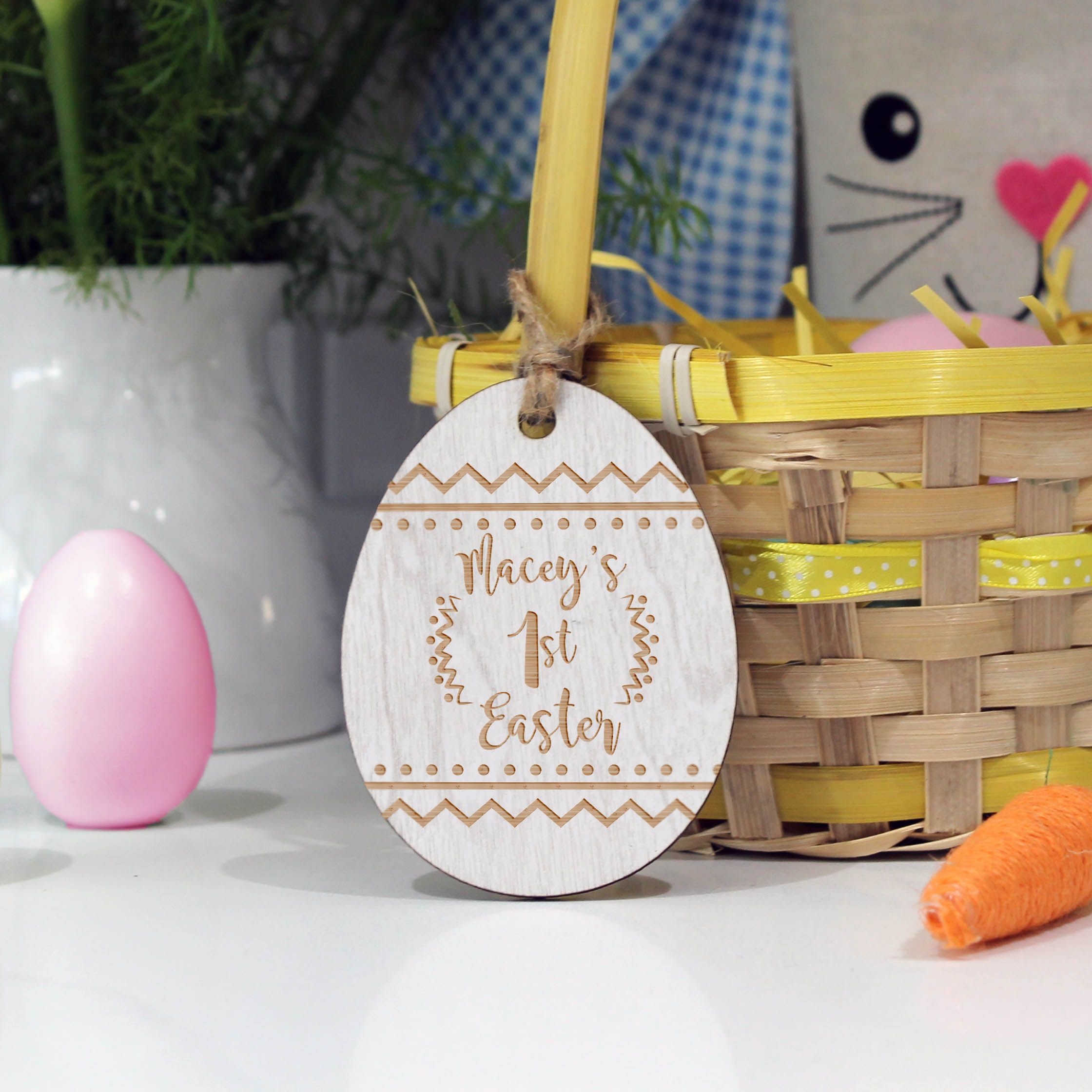 Wooden Gift Tags Personalized Wood Tag Custom Easter Name Tags